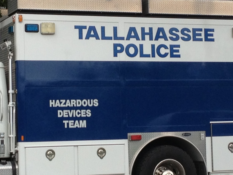 TPD's hazardous devices team was on the scene to investigate.
